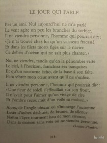 Le jour qui parle - Michel Manoll