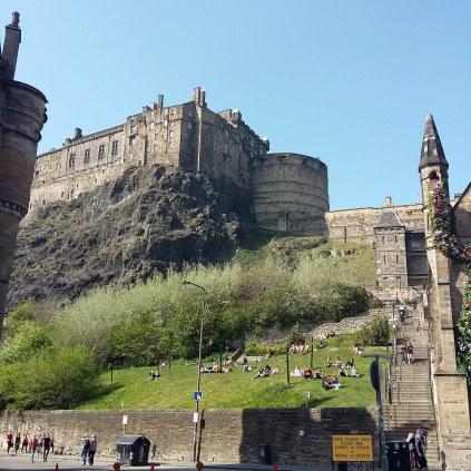 Le Château, vu depuis Grassmarket ♥